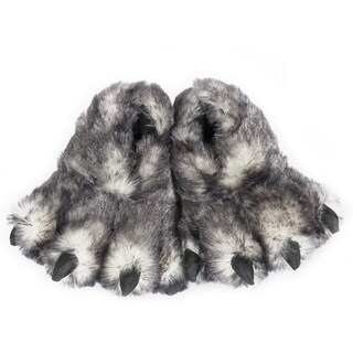 """12"""" Black Tip Wolf Claw Slippers"""