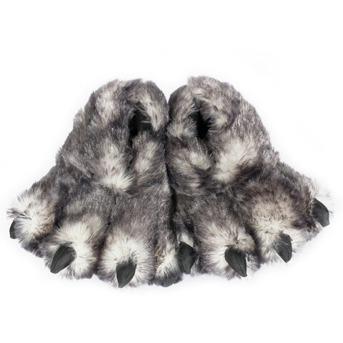 "15"" Black Tip Wolf Claw Slippers"