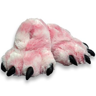 """7"""" Pink Furry Tiger Slippers"""