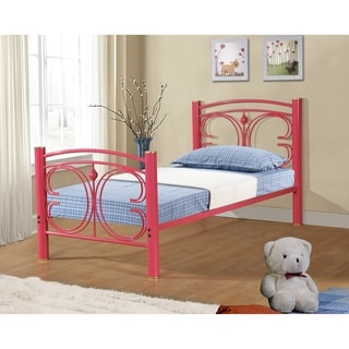 Metal Butterfly Bed in Hot Pink Finish