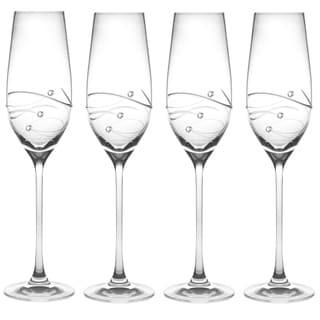 Barski Handmade Champagne Flutes (Set of 4)
