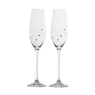 Barski Handmade Glass Champagne Glass (Set of 2)