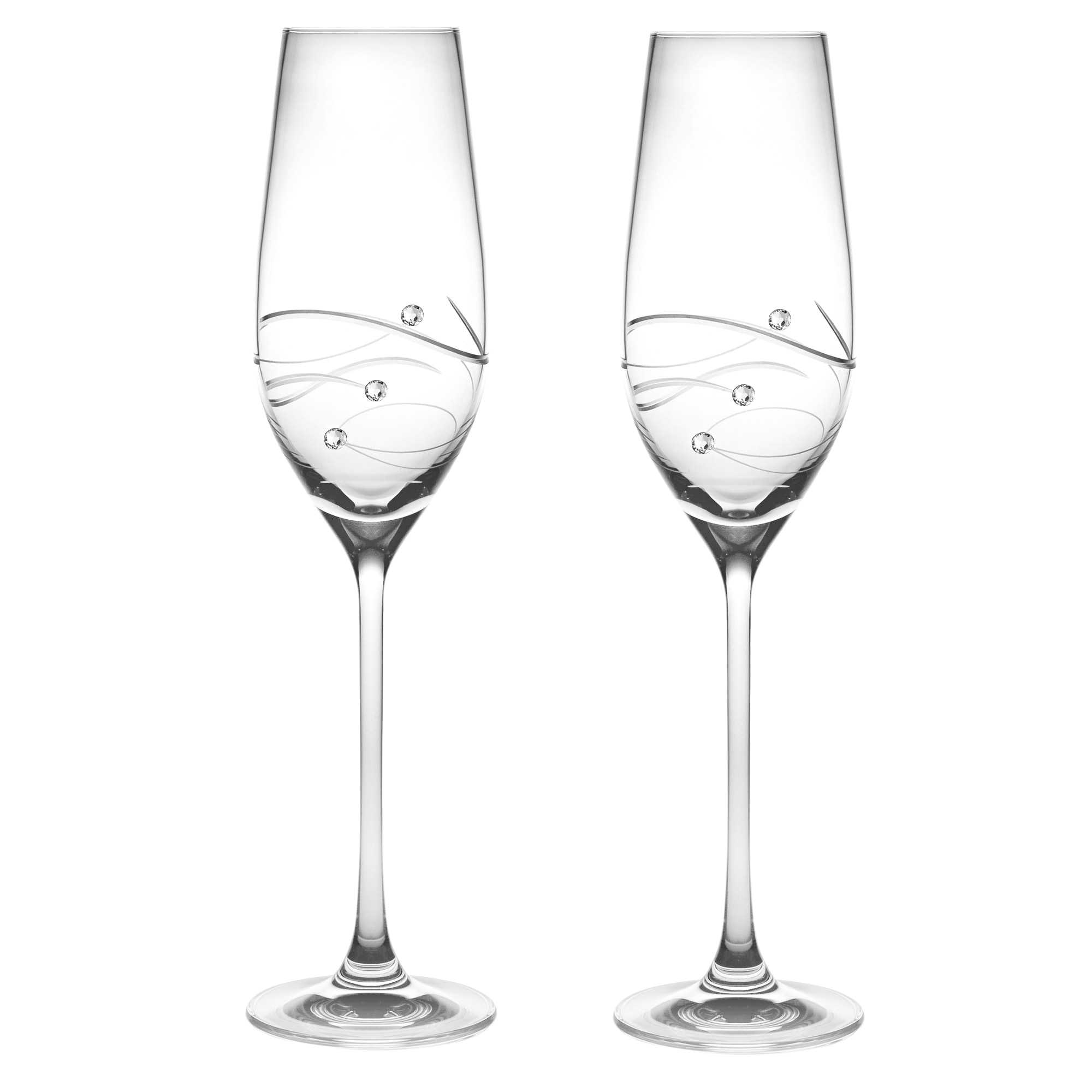 Barski Handmade Glass Champagne Glass (Set of 2) (Set of ...