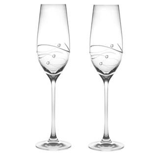 Barski Handmade Glass Champagne Glass (Set of 2)