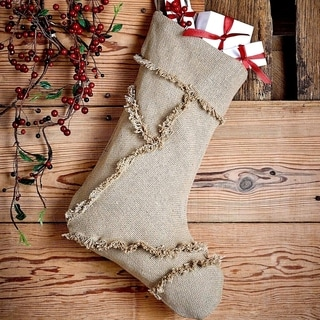 Burlap Natural Reverse Seam Stocking