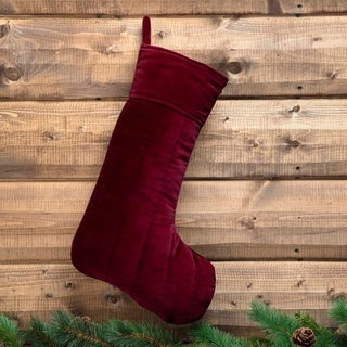 Velvet Holiday Stocking