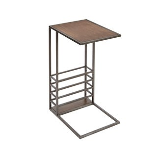Brycen Wood and Metal End Table