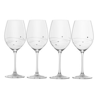 Barski Sparkle Crystal White Wine Glass (Set of 4)