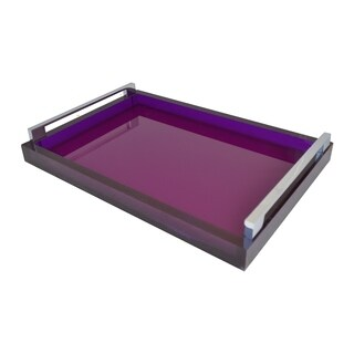 Purple and Silver Tray
