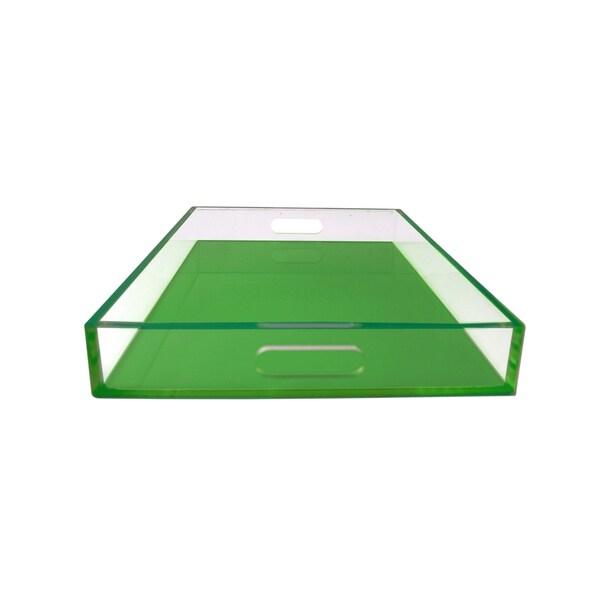Neon Green SQ Lucite Tray