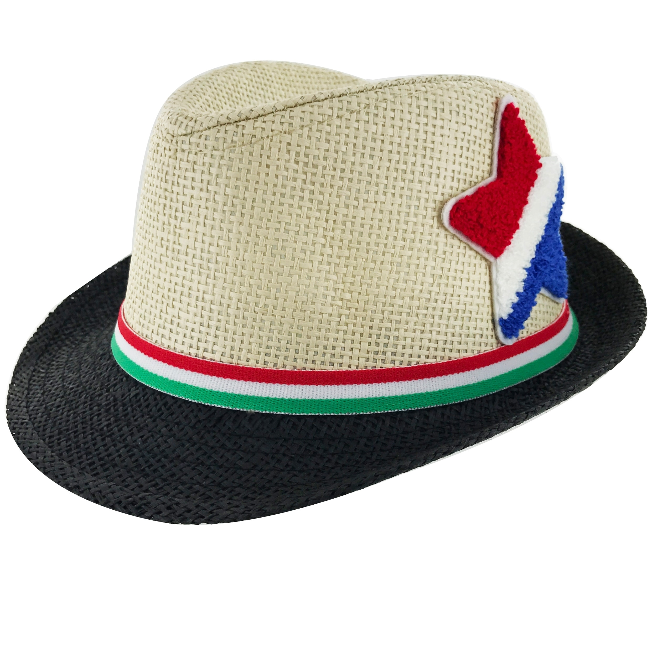 dbf882e2208 Faddism Kids Unisex Slim Belt Cuban Brim Fedora Hat Model 02