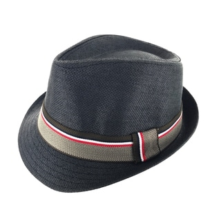 Faddism Unisex Ribbon Cuban Brim Fedora Hat Model 199
