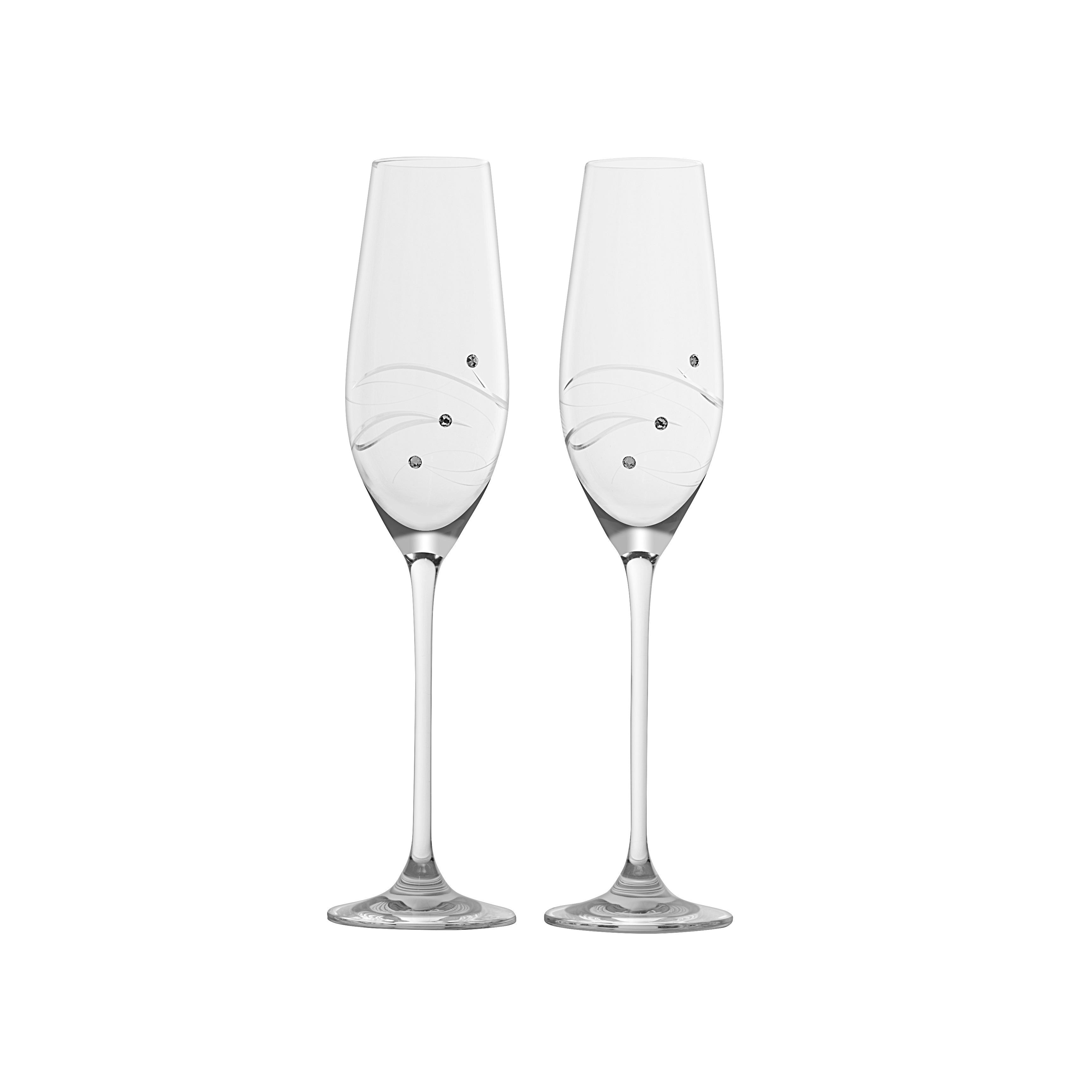 Barski Handmade Glass Toasting Flutes (Set of 2 Flutes), ...