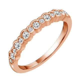 Sparkle Collection 1/3CT Diamond Bubble Band in 10KT Rose Gold