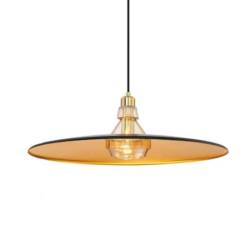 Eurofase Legend Polished Metal Small Light Pendant with Crystal Detail, Black with Gold Finishes - 31867-023