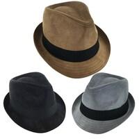 92b4653c9dd Shop Kenny K Men s Dressy Faux Felt Fedora - Free Shipping On Orders ...