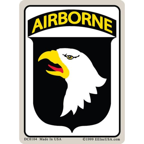 US Army 101st Airborne Division Car Decal 3 by 4 Inches