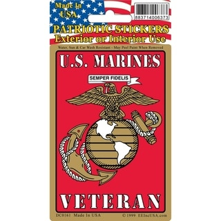 US Marine Corps Logo Veteran Car Decal 3 by 4 Inches