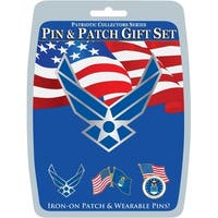 US Air Force Logo Pin & Patch Gift Set