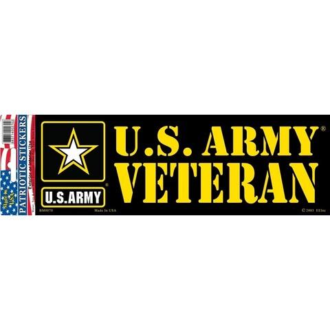 US Army Veteran Star Logo Bumper Sticker 3-1/4 by 9-1/2 Inches