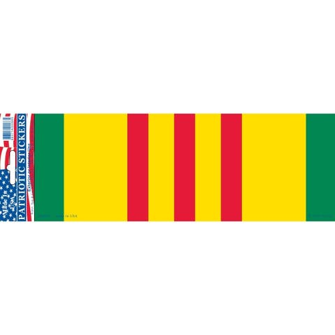 Vietnam Service Ribbon Bumper Sticker 3-1/4 by 9-1/2 Inches