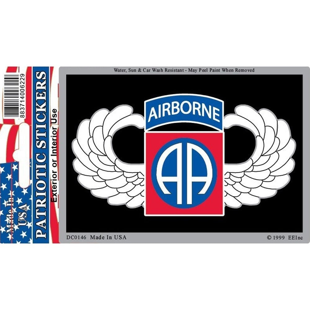 US Army 82nd Airborne Division Car Decal 3 by 4 Inches, M...
