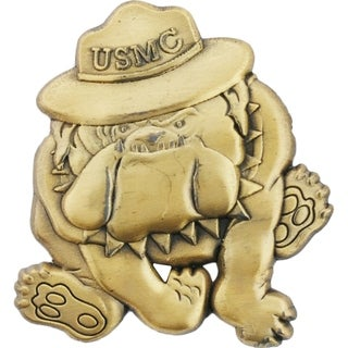 USMC Bulldog Emblem Military Pin 1 Inch
