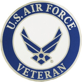 US Air Force Veteran Large Pin 1-1/2 Inches
