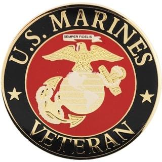 US Marine Corps Veteran Logo Pin 1-1/2 Inches