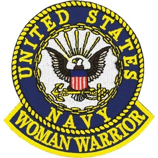 US Navy Woman Veteran Embroidered Patch 3-3/4 Inches