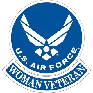 US Air Force Woman Veteran Embroidered Patch 3-3/4 Inches