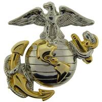 USMC Anchor and Globe Silver and Gold Colored Pin 1-1/8 Inches