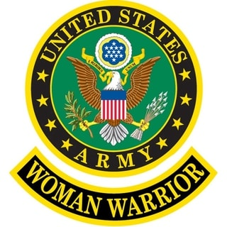US Army Woman Warrior Embroidered Patch 3-3/4 Inches