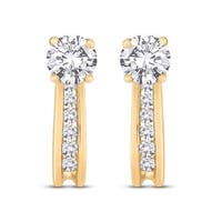 10K Yellow Gold 1/4ct TDW Diamond Dangle Earrings (J-K, I2-13)