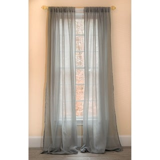 Link to Manor Luxe Sierra Sheer 84 Inch Rod Pocket Curtain Panel Similar Items in Window Treatments