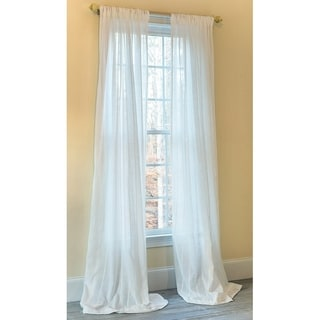 Manor Luxe Emily Sheer With Stripes Accent Rod Pocket Window Curtain 52 By 120