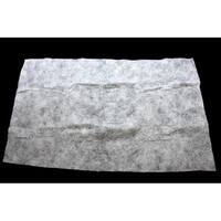 "36"" x 60"" White Artificial Powder Snow Christmas Drape with Silver Glitter"