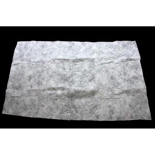 "36"" x 60"" White Artificial Powder Snow Christmas Drape with Silver Glitter"