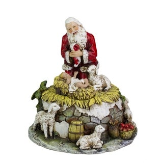 Joseph's Studio Kneeling Santa with Jesus Musical Christmas Figure