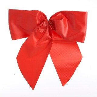 "12.25"" Red Novelty Christmas Bow for Car Bumper License Plate"