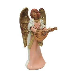 "Exclusive Fontanini 5"" Eva Angel With Mandolin Signed Nativity Figurine #75532S"