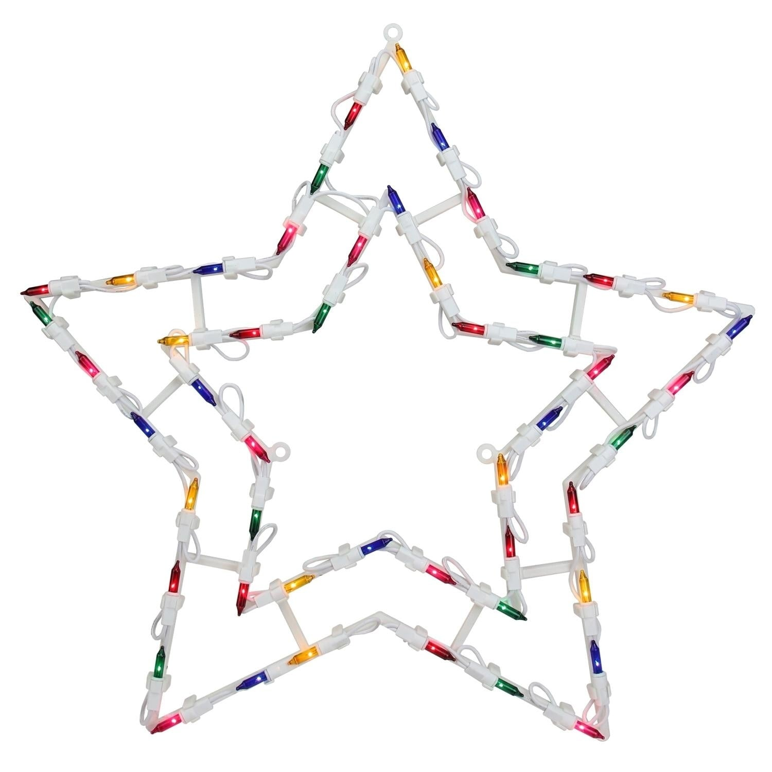 """18"""" Lighted Star Christmas Window Silhouette Decoration, ..."""