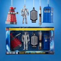 5-Piece Multi-Colored Doctor Who Miniature Christmas Ornament Gift Set
