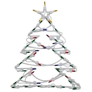 "18"" LED Lighted Tree Christmas Window Silhouette Decoration"