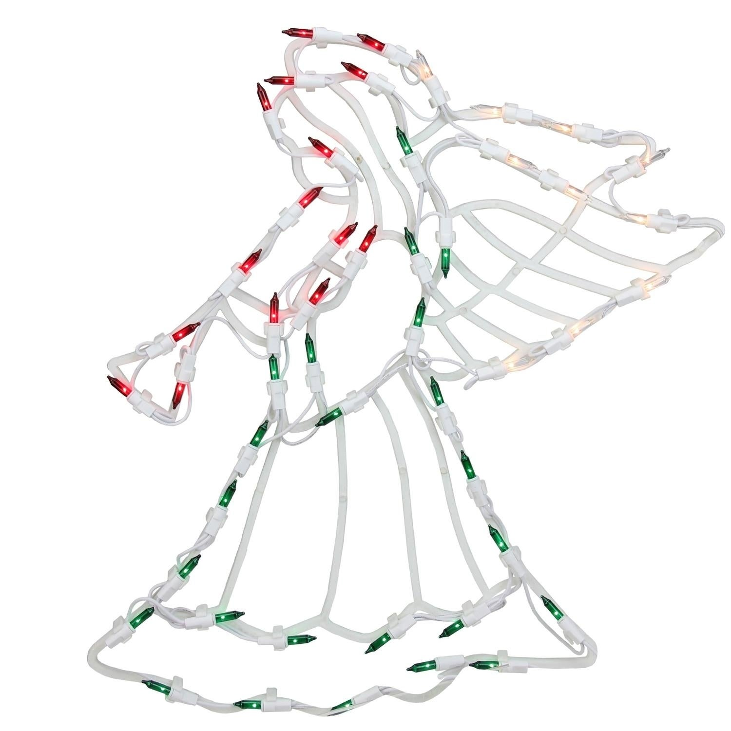 "18"" Lighted Angel Christmas Window Silhouette Decoration,..."