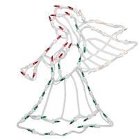 "18"" Lighted Angel Christmas Window Silhouette Decoration"