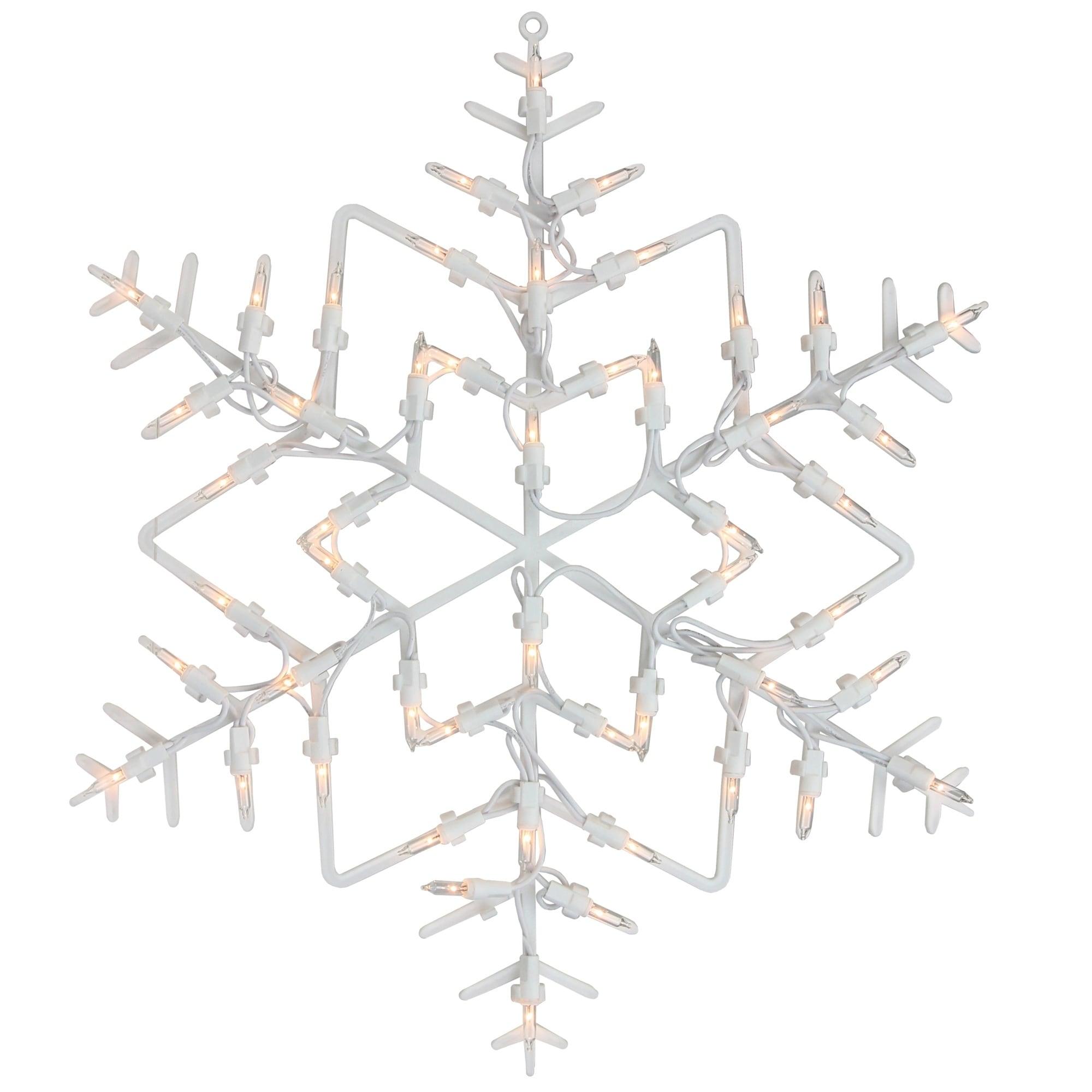 "18"" Lighted Snowflake Christmas Window Silhouette Decorat..."