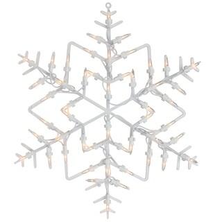 "18"" Lighted Snowflake Christmas Window Silhouette Decoration"