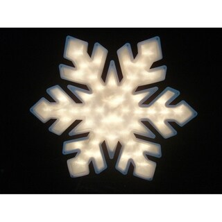 "20"" Lighted Snowflake Christmas Window Silhouette Decoration"