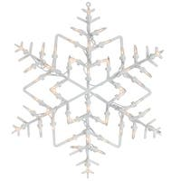 "15"" Lighted Snowflake Christmas Window Silhouette Decoration"